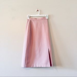 Vintage 1970s pink a-line midi skirt - extra small